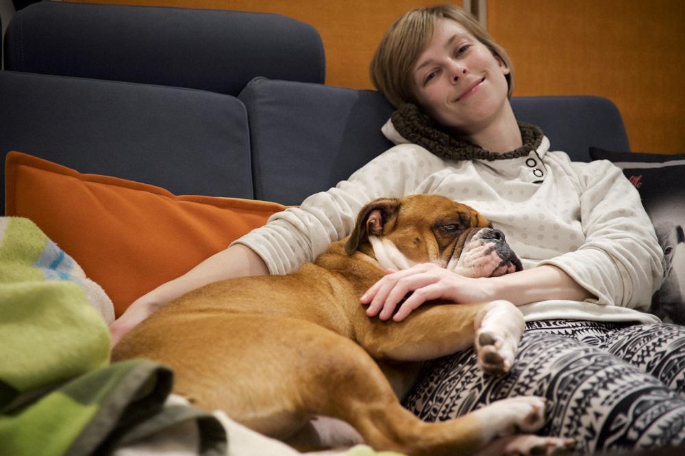 Lazy Debi on the sofa :-)